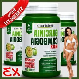 180 GARCINIA Ultra Pure Lose Weight Loss Diet Pills 95% 3000