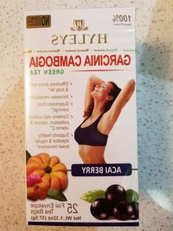 2 Packs HYLEYS Garcinia Cambogia Acai Berry 50 Green Tea Bag