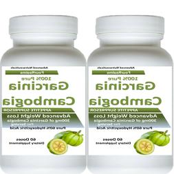 2 PURE GARCINIA CAMBOGIA EXTRACT WEIGHT LOSS WITH 100% HCA D