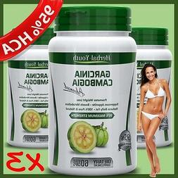 3 BOTTLES GARCINIA Ultra Extreme Detox Natural Pure Weight L