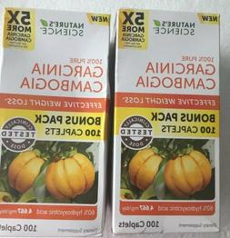 3 Natures Science GARCINIA CAMBOGIA 1556mg DIET WEIGHT LOSS