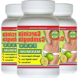 3 x Bottles Garcinia Cambogia Extract 95% HCA Natural  Weigh