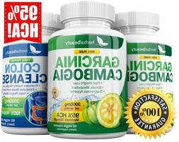 3 x Herbal Beauty GARCINIA CAMBOGIA 95% HCA + COLON CLEANSE