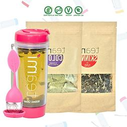 30 Day Detox Tea Kit for Teatox & Weight Loss to get a Skinn