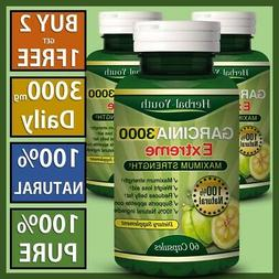 3000mg Daily GARCINIA CAMBOGIA Vegetarian Extreme Diet Weigh