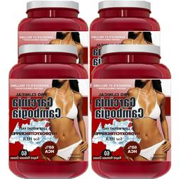 4 Pack PURE Garcinia Cambogia Extract Natural Weight Loss 10