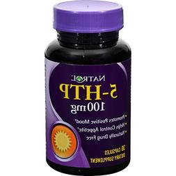 Natrol 5 - HTP - 100 mg - 30 Capsules - Promotes Positive Mo