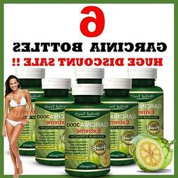 6 x BOTTLES 3000mg Daily ❤ GARCINIA CAMBOGIA Capsules Supe