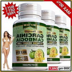 95% MAX Garcinia Cambogia Capsules 3000mg Daily Slimming Wei