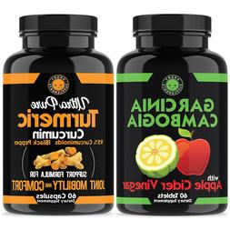 ACV GARCINIA CAMBOGIA BEST Diet Pill Weight Loss & Turmeric