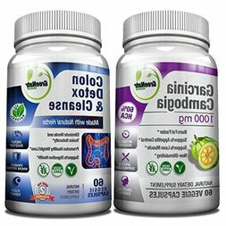 Colon Cleanser Detox for Weight Loss & Garcinia Cambogia Ext