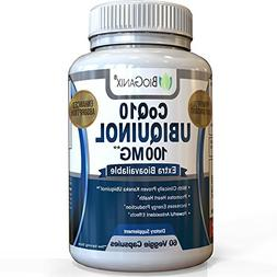 #1 Best CoQ10 Ubiquinol 100mg - Powerful Extra Bioavailable