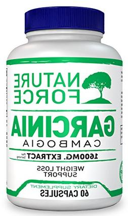 Nature Force Garcinia Cambogia 1600 mg Pure Extract with HCA