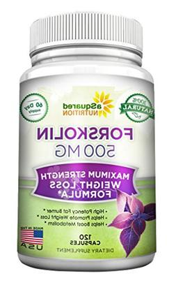 aSquared Nutrition Forskolin 500mg Max Strength - 120 Capsul