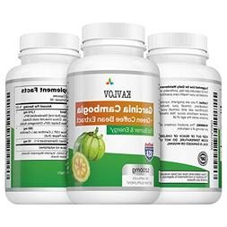 KAVLOV Garcinia Cambogia + Green Coffee Bean Extract Fat Bur