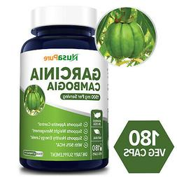 Pure Garcinia Cambogia 180 caps 1500mg  - Best Weight Loss S