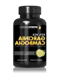 Pure Garcinia Cambogia Extract with 65% HCA; Made In USA; In