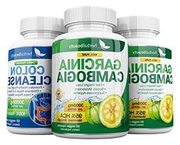Garcinia Cambogia Extract & Colon Cleanser- 95% HCA 3000mg C