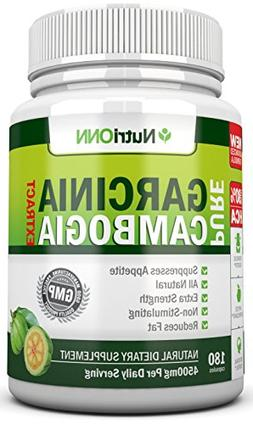 80% HCA PURE GARCINIA CAMBOGIA EXTRACT- 4500MG/Day - 180 Cap