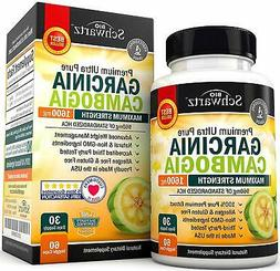 Garcinia Cambogia Pure Extract 1600mg with 960mg HCA. Fast W