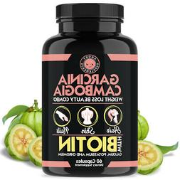 Angry Supplements Garcinia Cambogia w. Biotin, Weight Loss B