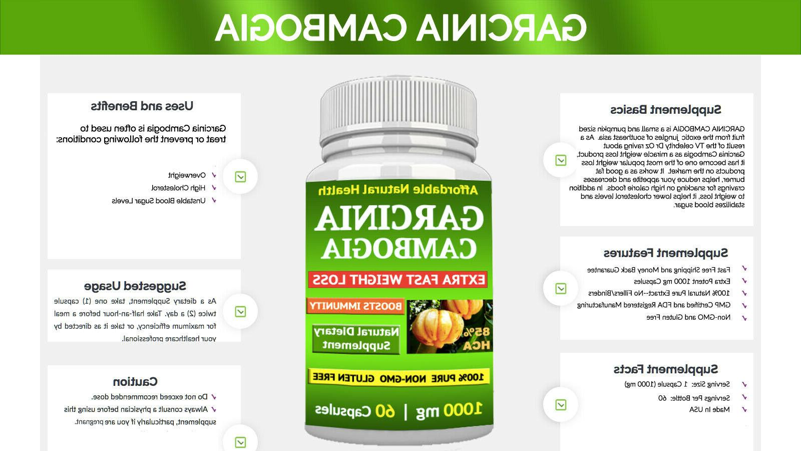 1 CAMBOGIA EXTRACT 85% FAT BURN
