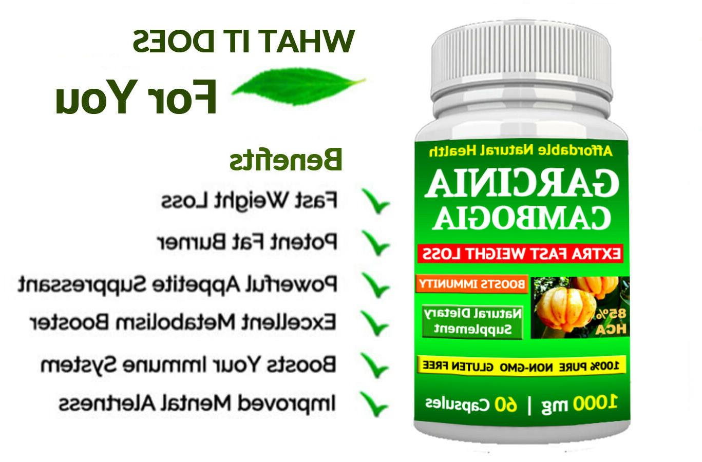 1 PURE GARCINIA EXTRACT NATURAL 85% HCA DIET FAT