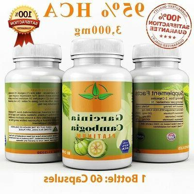 100% PURE 60 3000mg Daily CAMBOGIA 95% Loss Diet