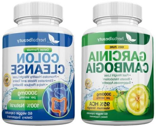 2X GARCINIA CAMBOGIA 95% COLON 3000mg