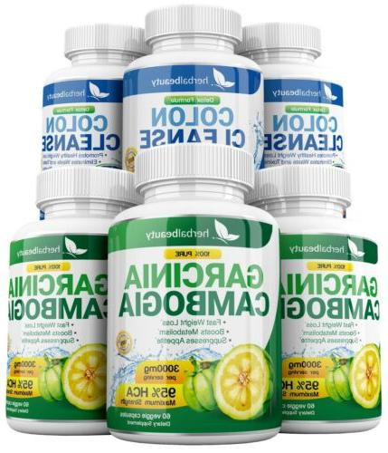 3 GARCINIA + 3 COLON HCA 3000mg Weight