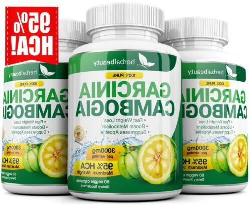3 Capsules CAMBOGIA Weight Loss Diet