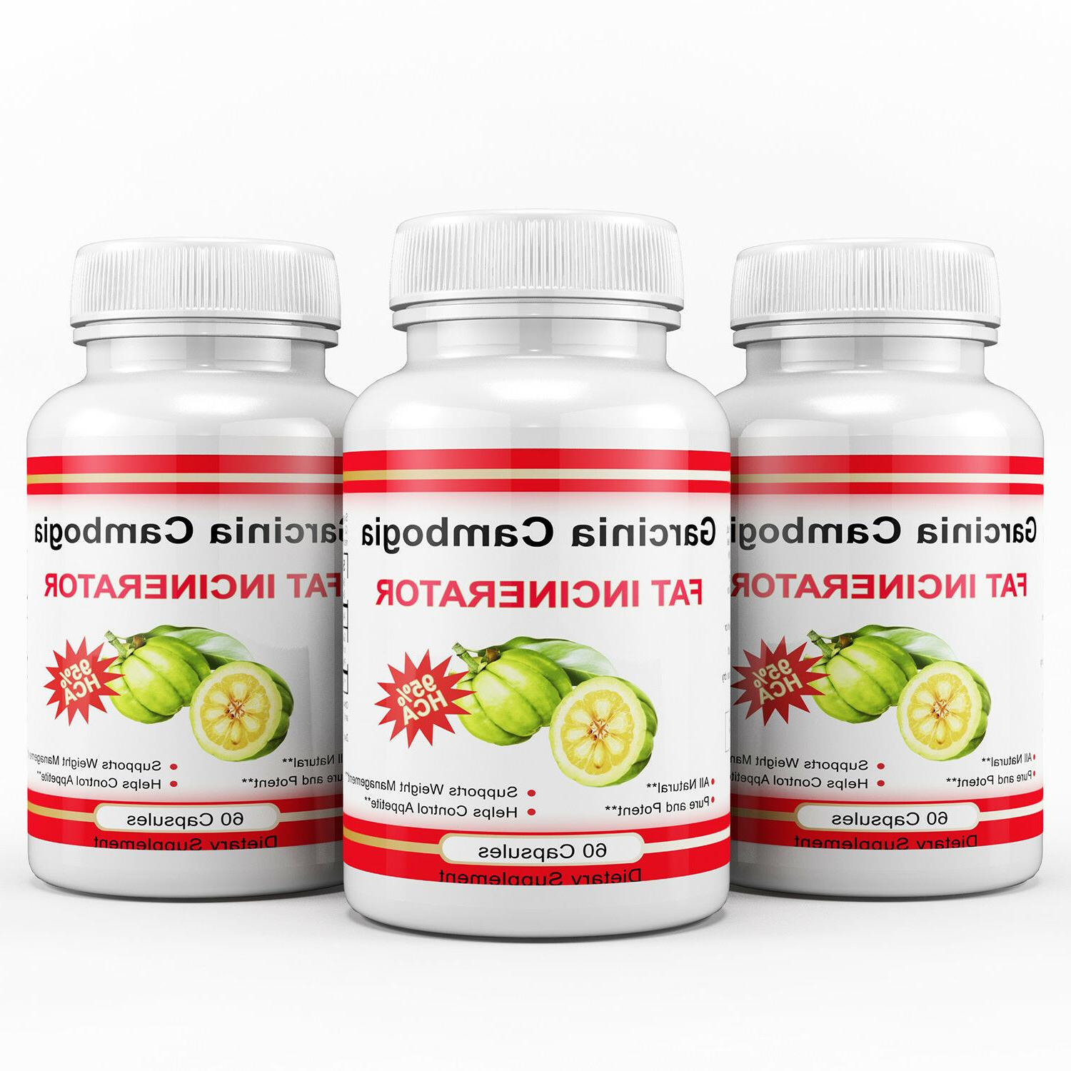 3 x 180 Capsules CAMBOGIA HCA Loss Fat