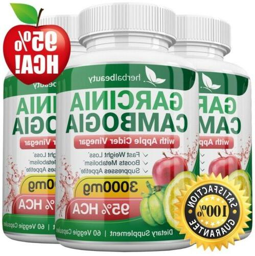 3 x garcinia cambogia 95 percent apple