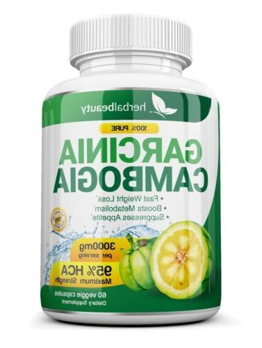3 Capsules 3000mg Daily GARCINIA CAMBOGIA 95% Weight Loss Diet