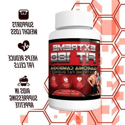 Garcinia Fat Burner-60% Garcinia Cambogia Extract Strength - & Suppressant All Natural Diet for