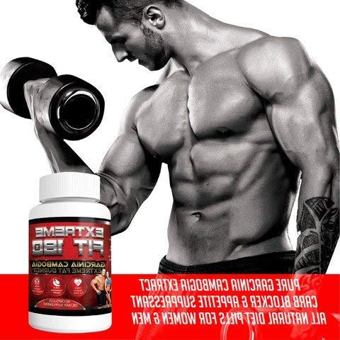 Extreme Garcinia Extreme Burner-60% HCA, Cambogia Strength - Carb Blocker & All for &