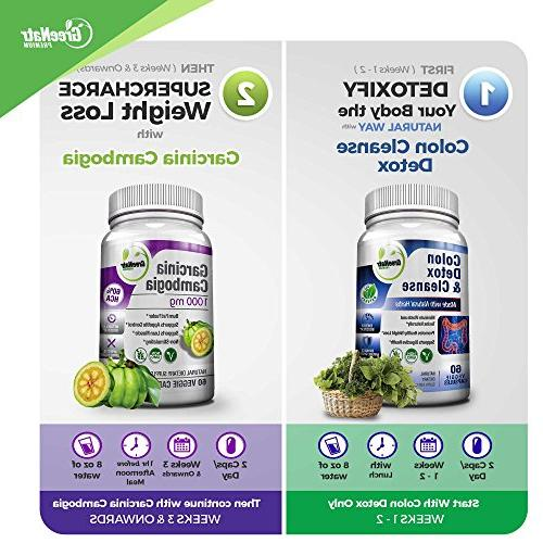 Colon Detox & Cleanse + Pure Extract- Weight Loss Bundle/240 Veggie Capsules-Gluten