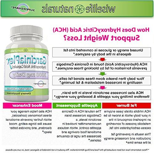 Best Burner, Control, Metabolism Boost Loss Formula, 180 Caps Pure Garcinia HCA, 1500 mg 3000mg Best Pill for and over 40