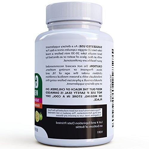 Garcinia for Pure Cambogia 1400mgs - 60 Pills, Carb Burner Loss for
