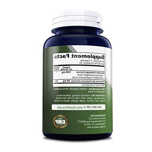 Pure Garcinia Cambogia 180 caps - Best Weight Supplement - Natural Appetite 100% Money Back Guarantee - Order Risk Free!