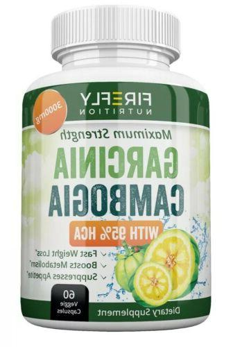 5 CAMBOGIA PURE 3000mg Diet Pills