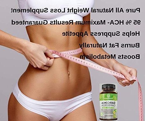 Garcinia HCA - Highest Potency Appetite & Fat Women & Garcinia Cambogia Extract Natural Weight -