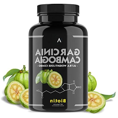 Angry Supplements Garcinia Capsules for Weight w/ BIOTIN Fat Burner To Healthy Thicken - Natural Detox Remedy