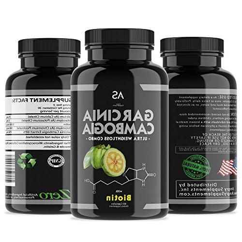 Angry Garcinia Cambogia Capsules for w/ Best Burner Pills Healthy Metabolism. Hair, Thicken - Detox Remedy