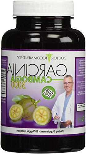 Garcinia Capsules-Pure Dietary Supplement Loss-1000mg/serving 90 Ct Diet AS HCA Suppressant-MADE IN
