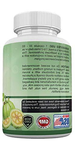 Amate Life's Garcinia Cambogia Extract - Capsules - Natural Suppressant Level- Metabolism Booster for Men/Women, Capsules Made