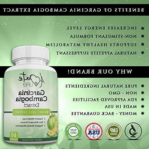 Amate Life's Extract Capsules Natural Appetite Suppressant - Promotes Energy Level- Made in The