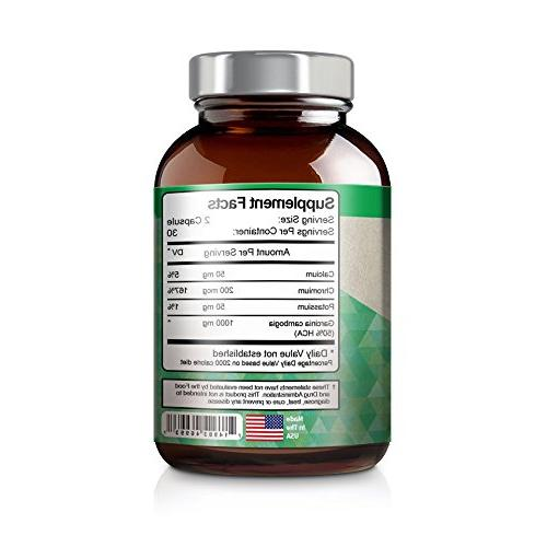 Vitamin Bounty Cambogia 100% Pure Extract with Moneyback - 60 Count 50% HCA