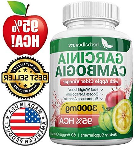 Garcinia Cambogia Extract Colon Cleanser- 95% 3000mg Cleanse to Weight Energy Levels Pack