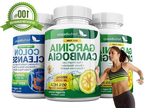 Garcinia Colon Cleanser- 3000mg - Cleanse Support Weight & Increased Energy 3 Pack Bundle